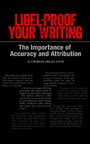 Libel-Proof Your Writing - The Importance of Accuracy and Attribution