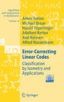 Error-Correcting Linear Codes - Classification by Isometry and Applications