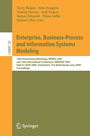Enterprise, Business-Process and Information Systems Modeling - 10th International Workshop, BPMDS 2009, and 14th International Conference, EMMSAD 2009, held at CAiSE 2009, Amsterdam, The Netherlands, June 8-9, 2009, Proceedings
