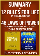 Summary of 12 Rules for Life: An Antidote to Chaos by Jordan B. Peterson + Summary of 48 Laws of Power by Robert Greene and Joost Elffers 2-in-1 Boxset Bundle