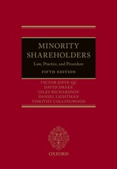 Minority Shareholders: Law, Practice, and Procedure - Law, Practice, and Procedure