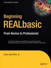Beginning REALbasic - From Novice to Professional