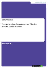 Strengthening Governance of District Health Administration