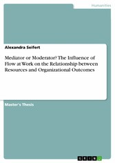 Mediator or Moderator? The Influence of Flow at Work on the Relationship between Resources and Organizational Outcomes