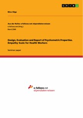 Design, Evaluation and Report of Psychometric Properties. Empathy Scale for Health Workers