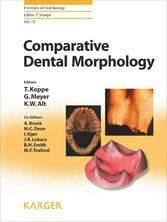 Comparative Dental Morphology - Frontiers of Oral Biology, Vol. 13