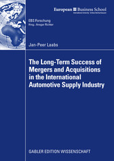 The Long-Term Success of Mergers and Acquisitions in the International Automotive Supply Industry